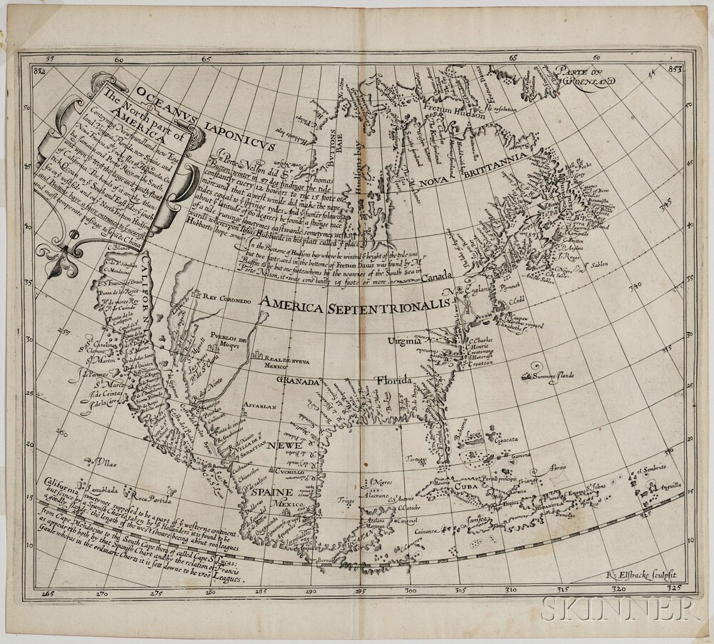 The north part of America: conteyning Newfoundland, new England, Virginia, Florida, new Spaine, and Noua Francia wth ye rich Iles of Hi