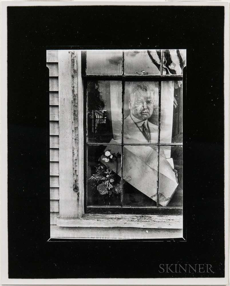 Walker Evans (American, 1903-1975)       Political Poster, Massachusetts Village