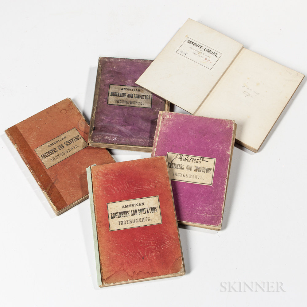 Five 1860s W. & L.E. Gurley Manuals