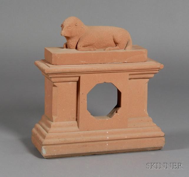 Carved Brownstone Mantle Clock Case