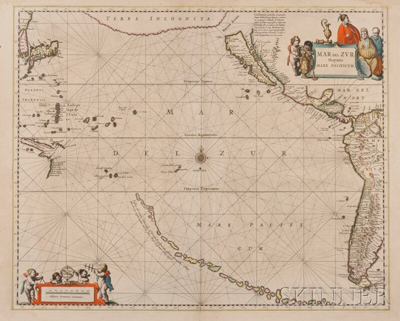 (Maps and Charts, Pacific Ocean), Jansson, Joannes