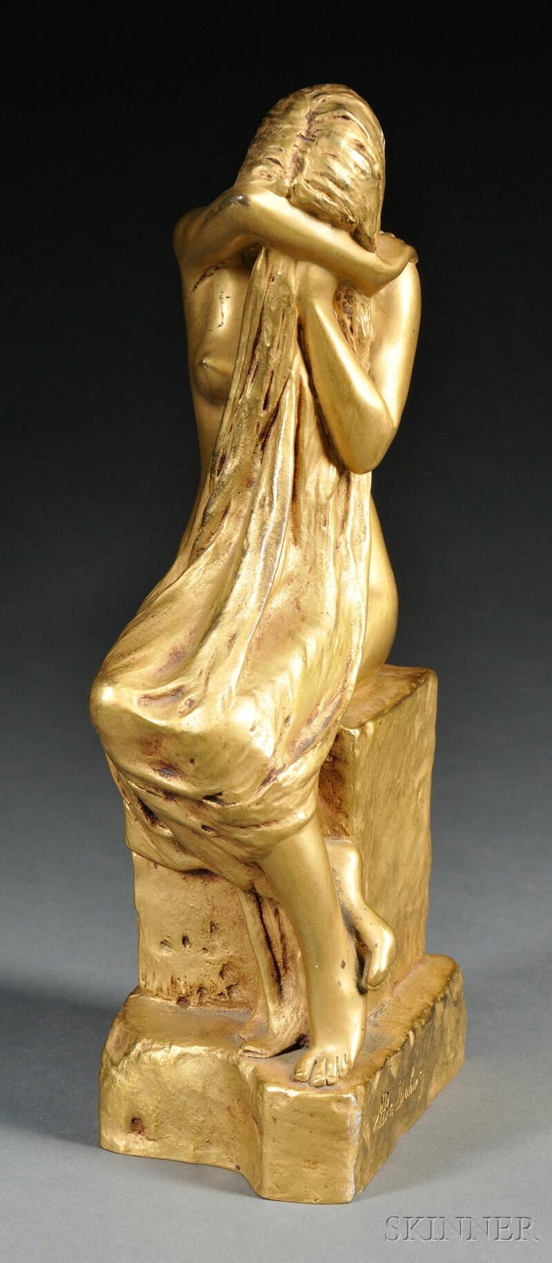 After Albert Bartholome (French, 1848-1928)       Figure of La Pleureuse