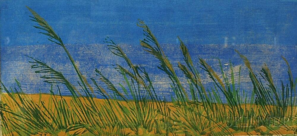 Three Framed Prints:      Karl Schrag (American, 1912-1995), Evening Sun - Low Tide