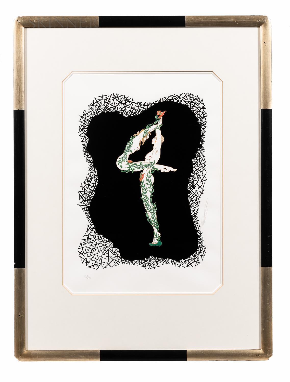 Romain De Tirtoff, called Erté (Russian, 1892-1990)      Three Prints: Letter F