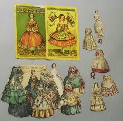 Lot of Four Cut McLoughlin Paper Dolls