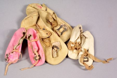 Three Pairs of Doll Shoes