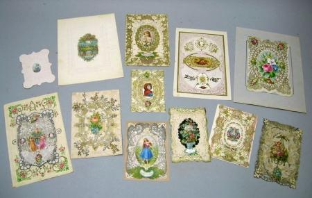 Eleven Assorted 19th Century Valentines