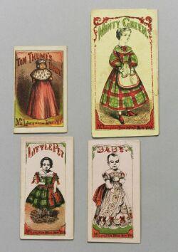 Four Uncut McLoughlin Paper Dolls