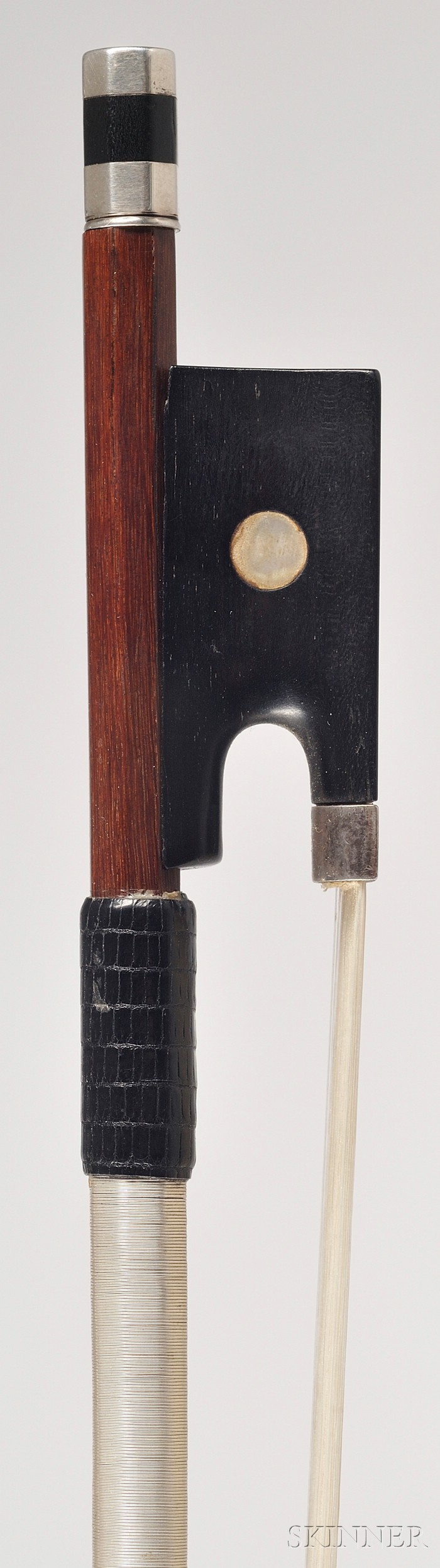 French Silver Mounted Violin Bow