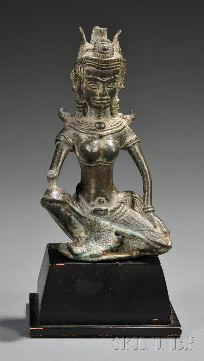 Khmer Bronze Buddha