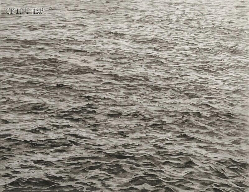 Vija Celmins (Latvian/American, b. 1939)      Ocean with Cross #1