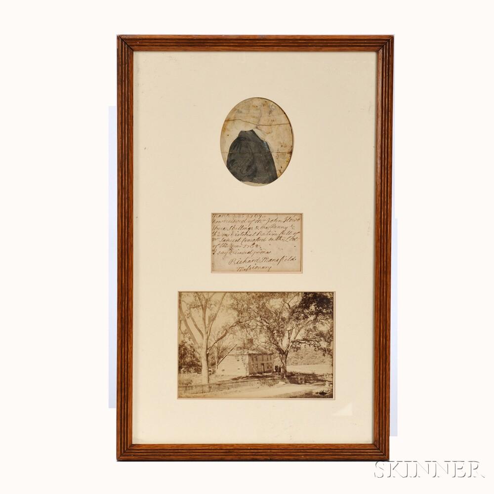 Framed Portrait Miniature of Reverend Richard Mansfield