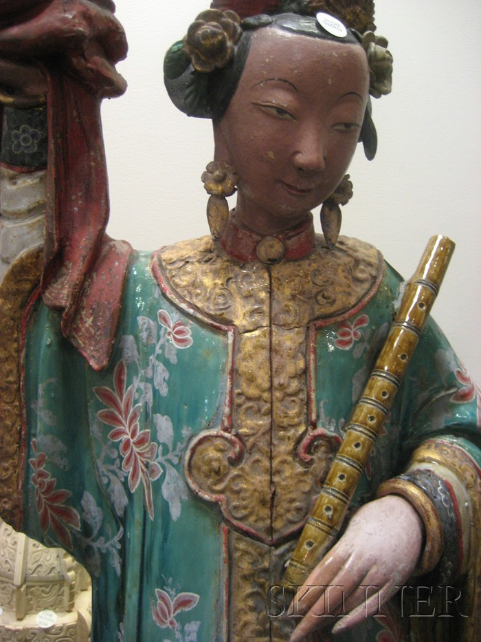 Pair of Polychrome Statues