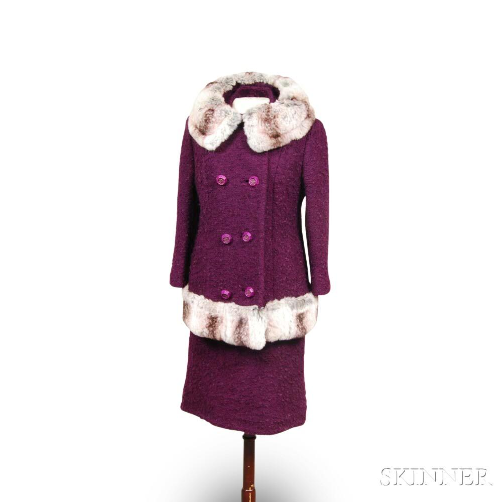 Lemkins Purple Wool Dress and Jacket
