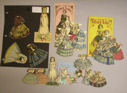 Lot of McLoughlin Paper Dolls