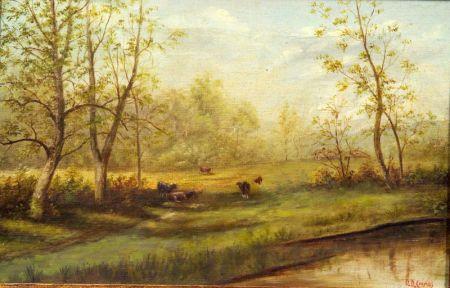 Delbert Dana Coombs (American, 1850-1938)    Grazing Cattle