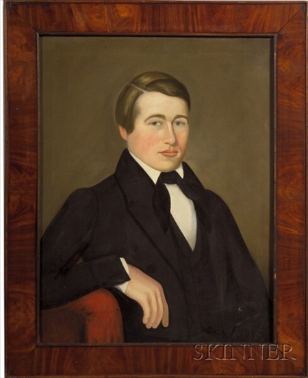 American School, 19th Century    Portrait of a Young Man.
