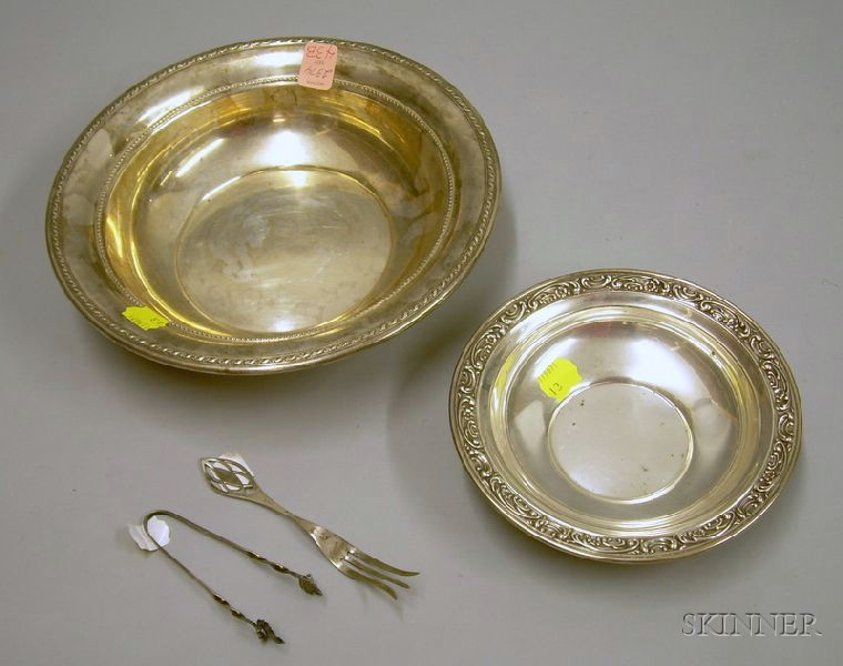 Two Small Gorham Sterling Silver Serving Bowls and an American Sterling...