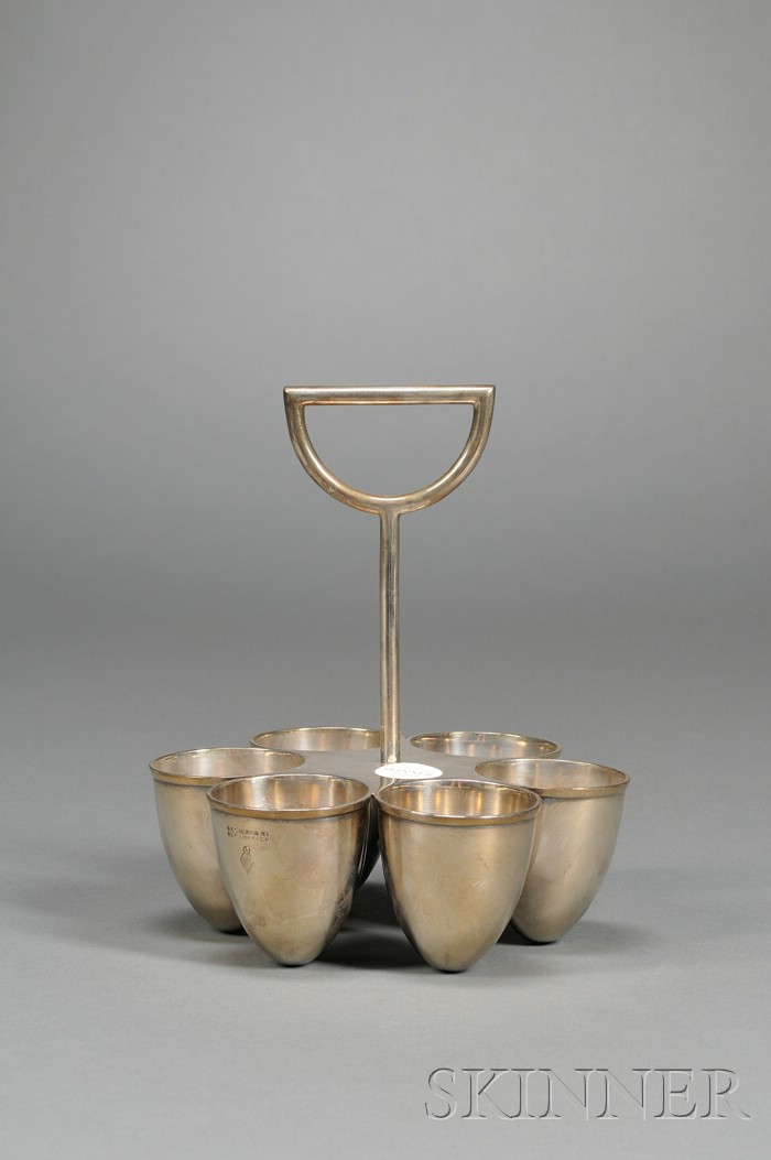 Silver Egg Cup Stand