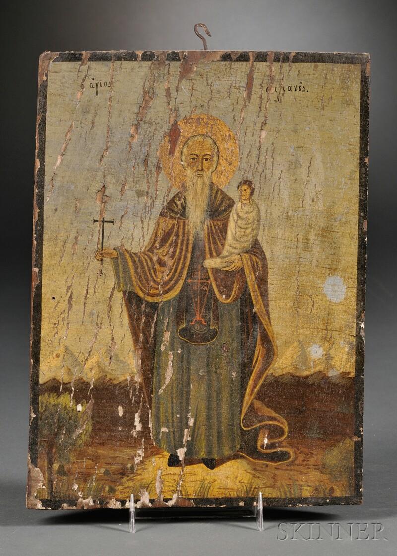 Greek Icon of Agios Stylianos