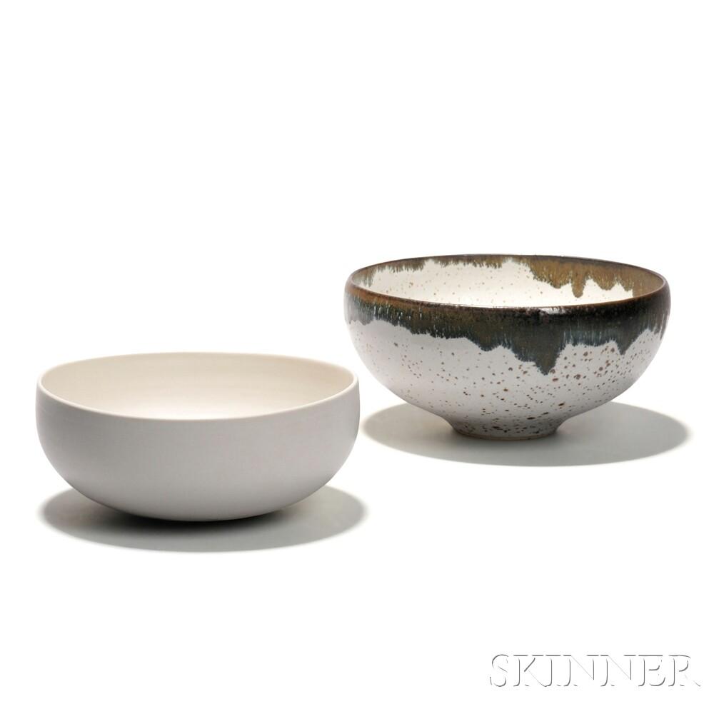 Four Jessie Lim Glazed Stoneware Bowls