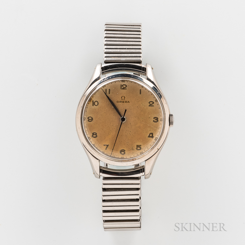 """Omega Stainless Steel """"Jumbo"""" Reference 2506-5 Wristwatch"""