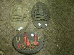 Four Painted Cast Iron Firemarks