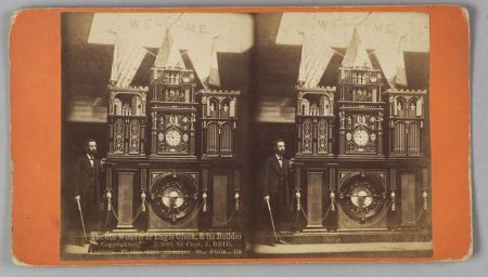 """Stereocard """"The 8th Wonder or Engle Clock & its Builder"""""""