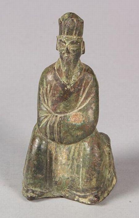 Seated Bronze Figure