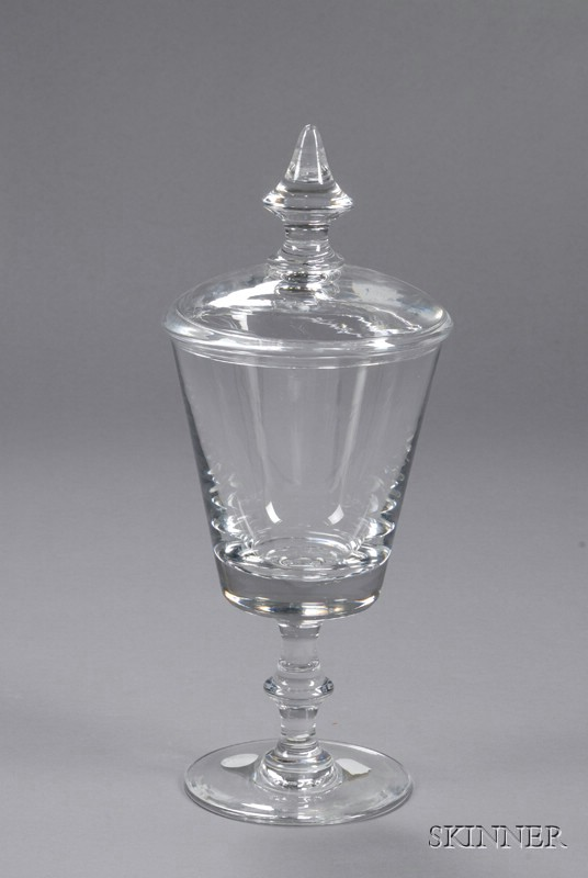 Val St. Lambert Pokal-style Glass Vase and Cover