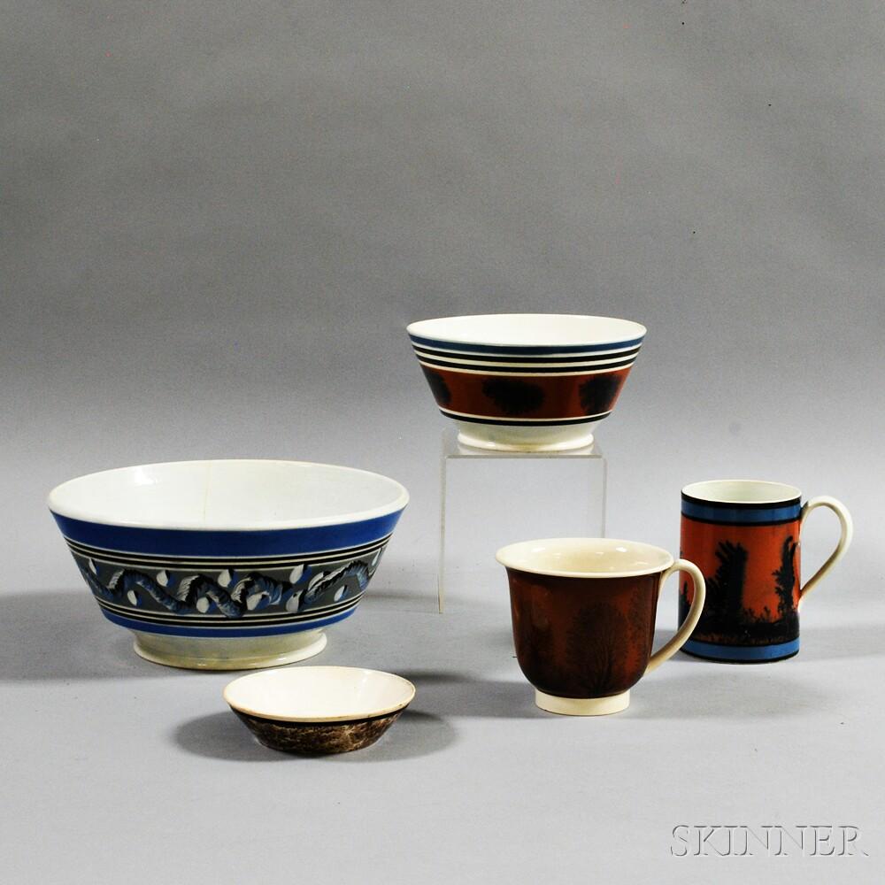 Five Pieces of Mochaware
