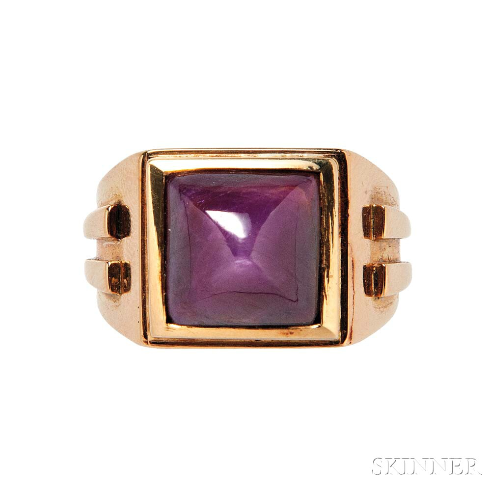 18kt Gold and Ruby Ring