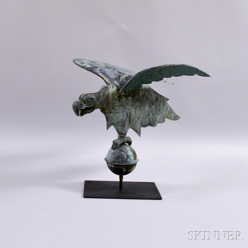 Molded Copper and Cast Zinc Spreadwing Eagle Weathervane