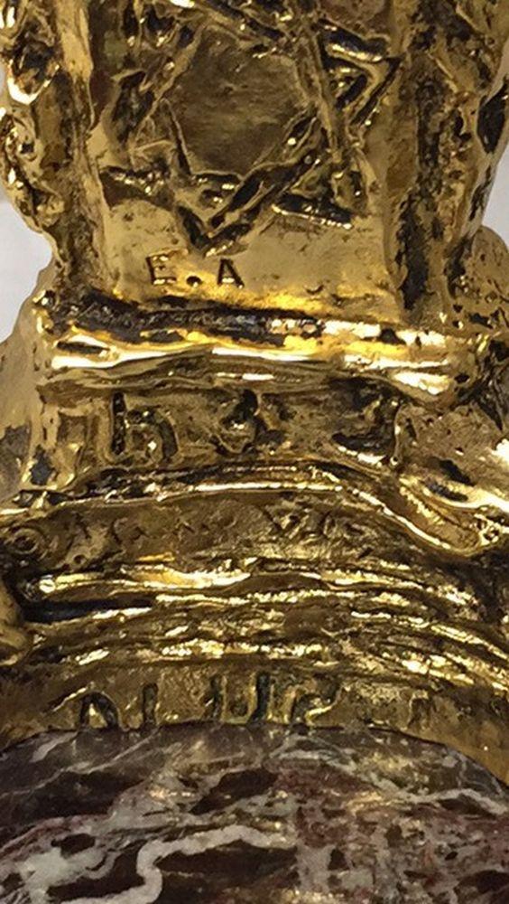 Salvador Dali Gilt-bronze