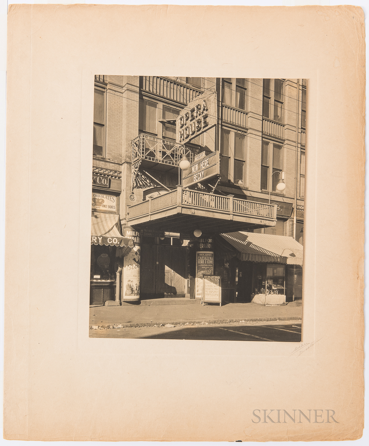 Weber, Paul Julius, Collection of Forty Platinum Prints of Massachusetts Theater Marquees and Interiors