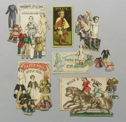 Lot of McLoughlin Boy Paper Dolls