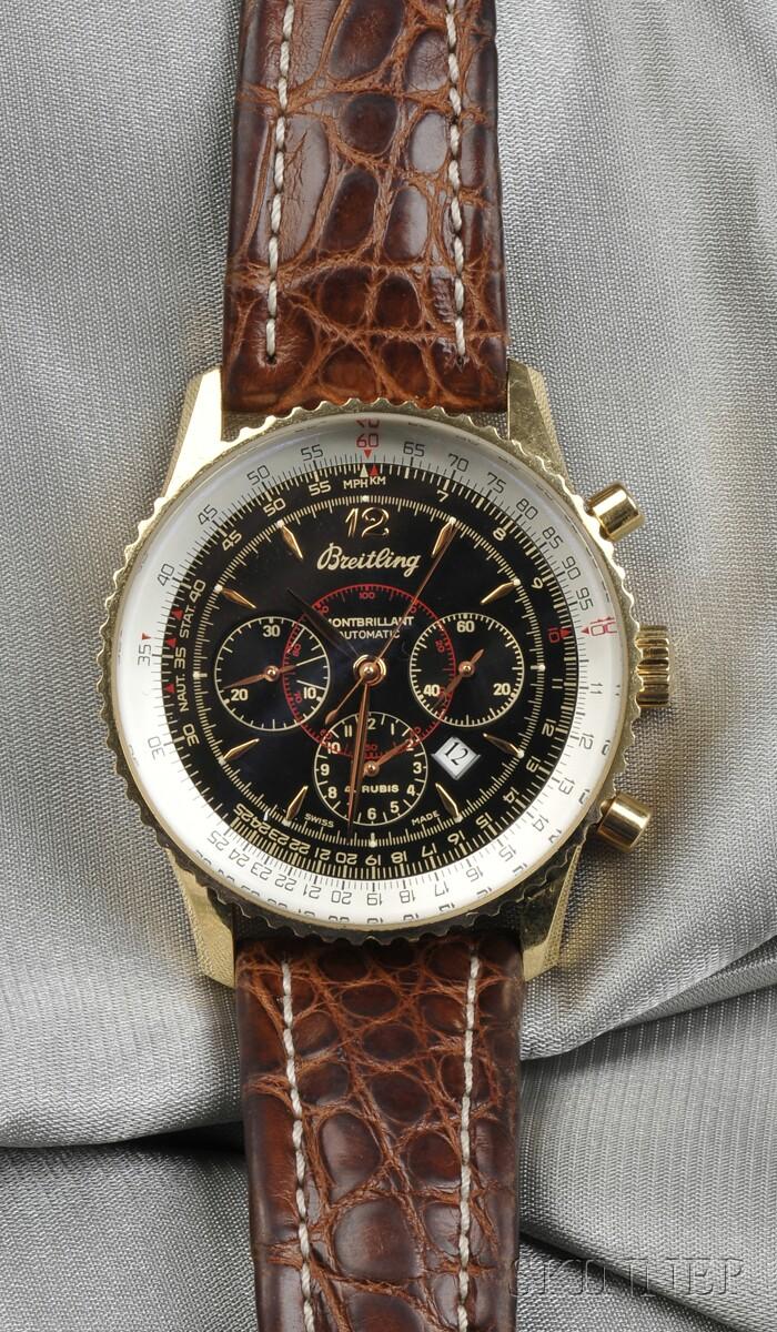 """18kt Gold """"Navitimer Montbrilliant"""" Wristwatch, Breitling"""