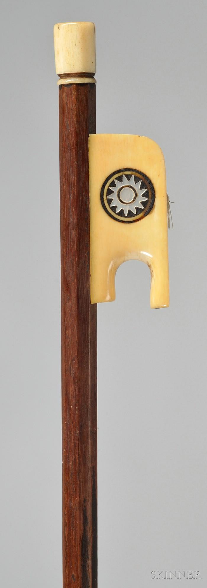 French Ivory Mounted Violin Bow, Francois Jude Gaulard, c. 1830
