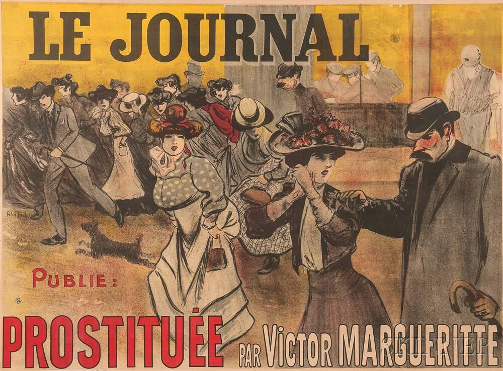 Louis Abel-Truchet (French, 1857-1918)      Le Journal Publie: Prostituée par Victor Margueritte