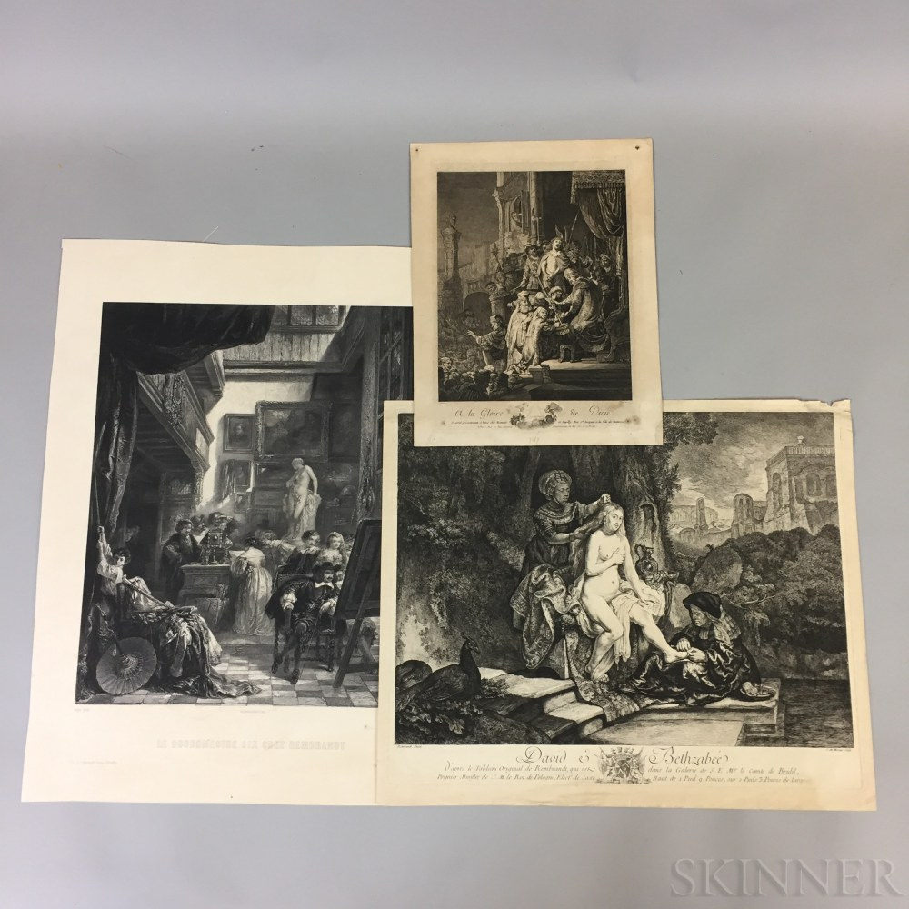 Five 18th and 19th Century Continental Reproductive Prints