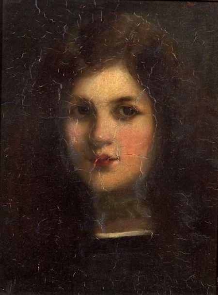 Anglo/American School, 19th Century    Portrait of a Young Girl