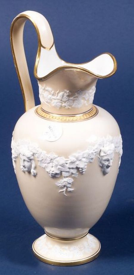Royal Copenhagen White and Beige Glazed Classical Revival Pitcher