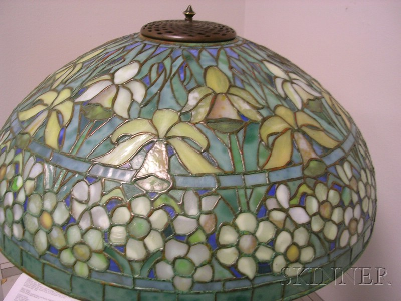 Tiffany Studios Leaded Glass and Bronze