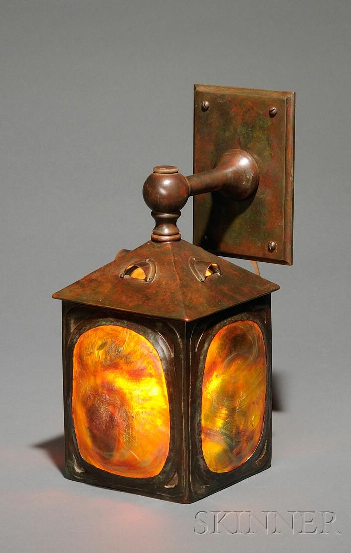 Turtleback Wall Lamp Attributed to Tiffany Studios