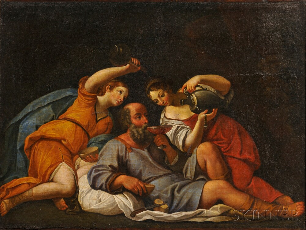 School of Francesco Bassano the Younger (Italian, 1549-1592)      Lot and His Daughters