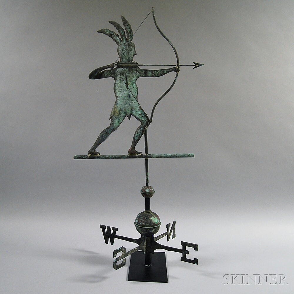 Molded Copper Indian Weathervane