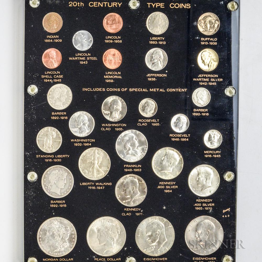 Capital Plastics 20th Century American Type Coin Set