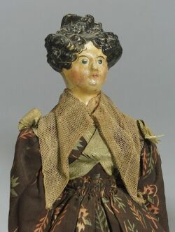 Early Papier-mache Shoulder Head Lady Doll