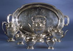 Seven-piece Whiting Manufacturing Co. Sterling Tea and Coffee Service