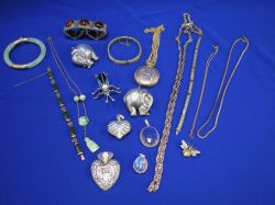 Group of Bracelets, Necklaces, and Pendants.